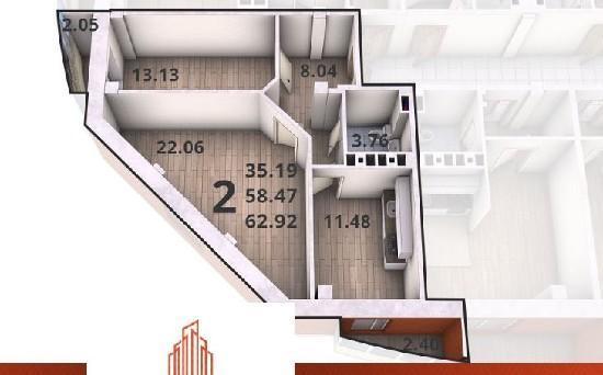Продажа 2-комнатной квартиры, г. Тольятти, Калмыцкая  37